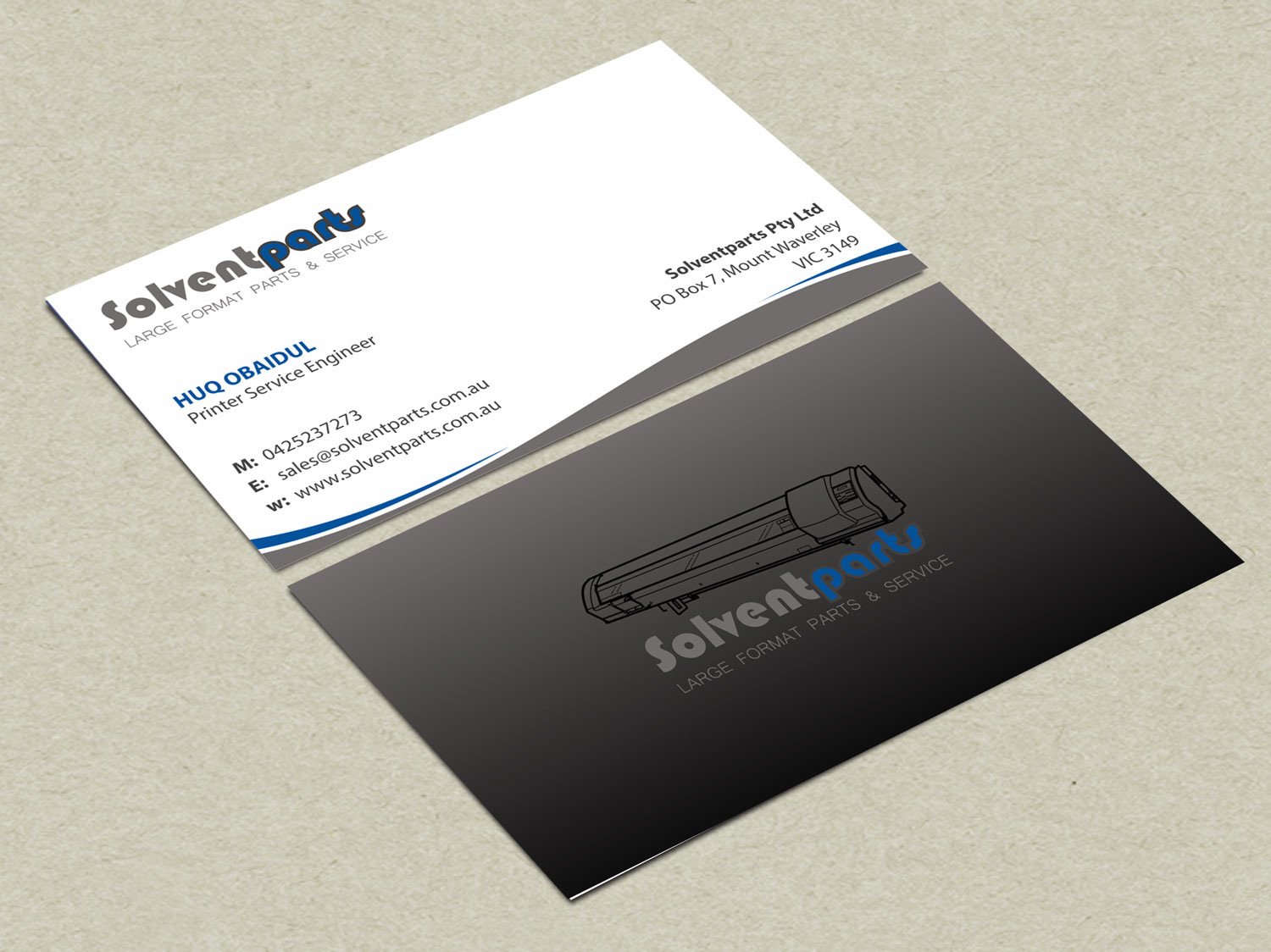 Personable conservative business business card design for business card design by madhuraminfotech for solventparts design 14765617 reheart Image collections
