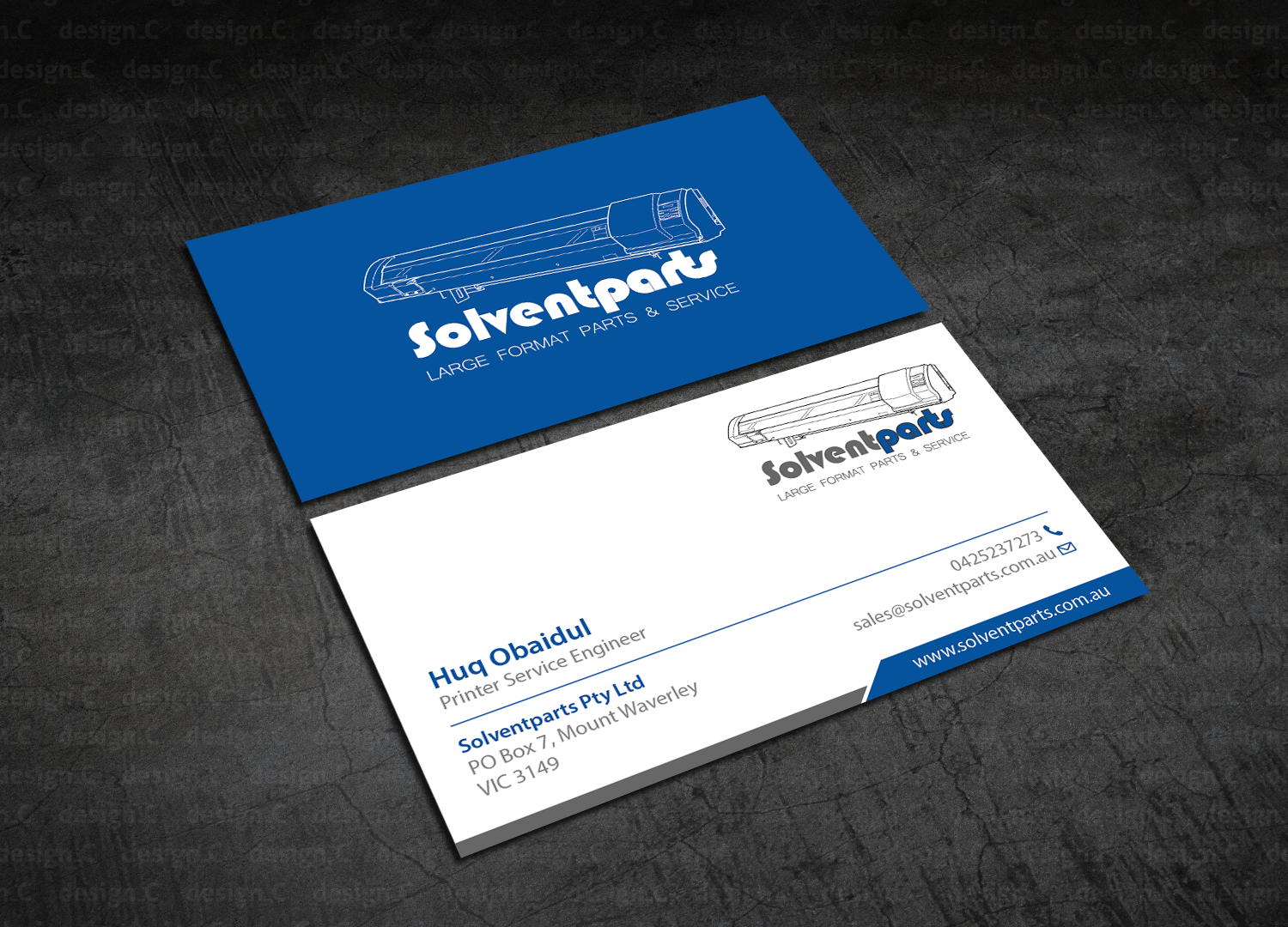 Personable conservative business business card design for business card design by designc for solventparts design 14726263 reheart Image collections