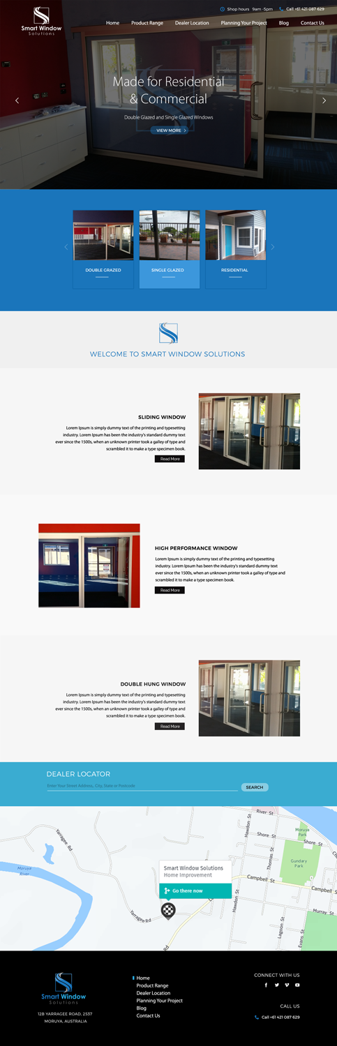 Modern professional building web design for a company by for Professional building designer