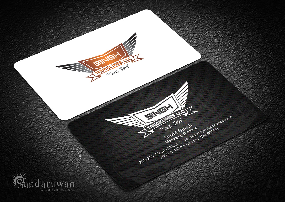 75 masculine upmarket trucking company business card for Trucking business card design