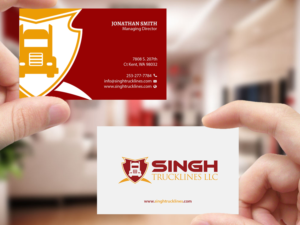 Trucking company business card designs 40 trucking company trucking company specializing in intermodal containers business card design by creations box 2015 colourmoves