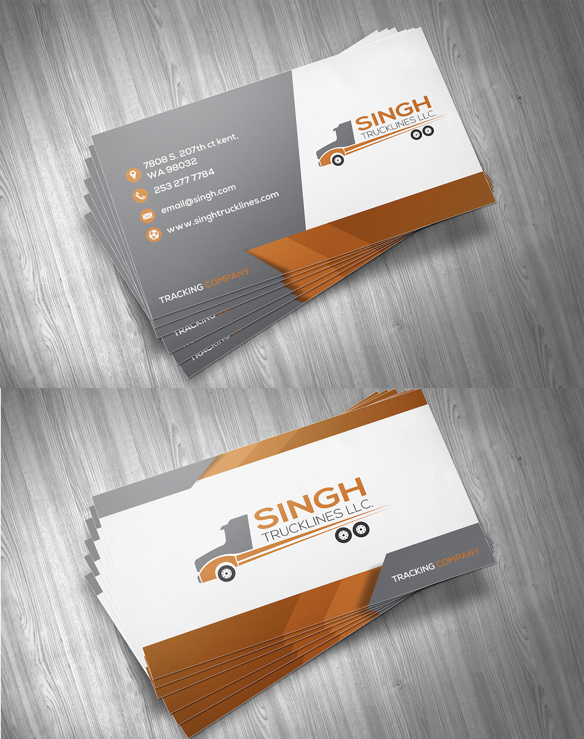 Masculine upmarket trucking company business card design for a business card design by bhairav for this project design 14797530 colourmoves