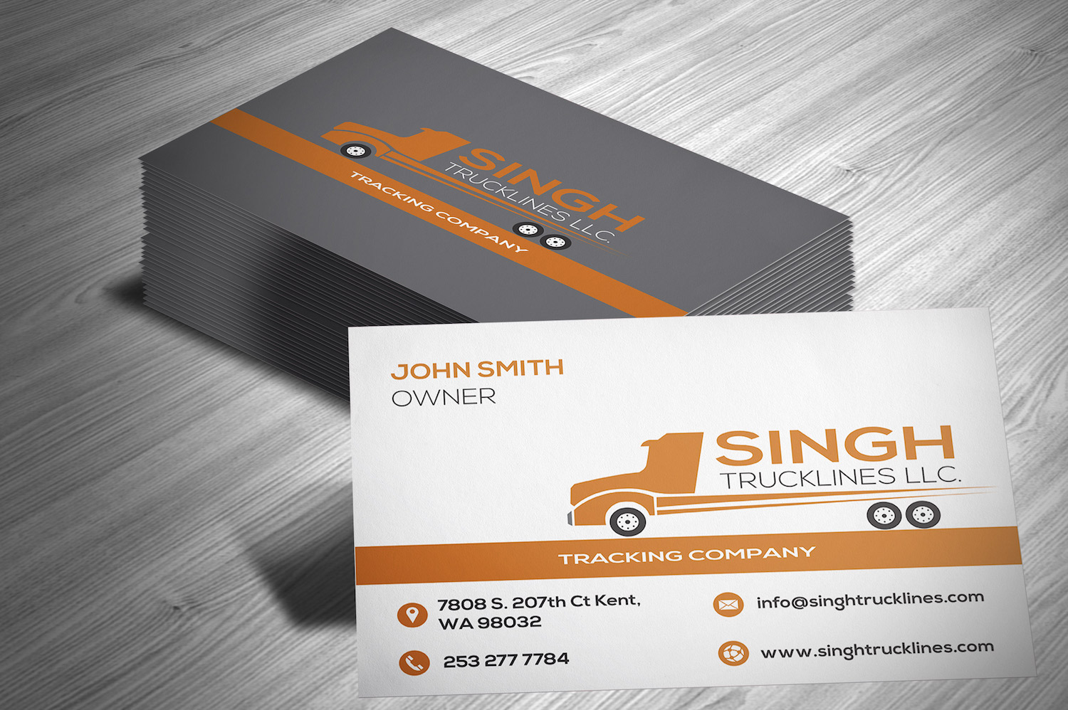 business card design by bhairav for this project design 14823479 - Trucking Business Cards