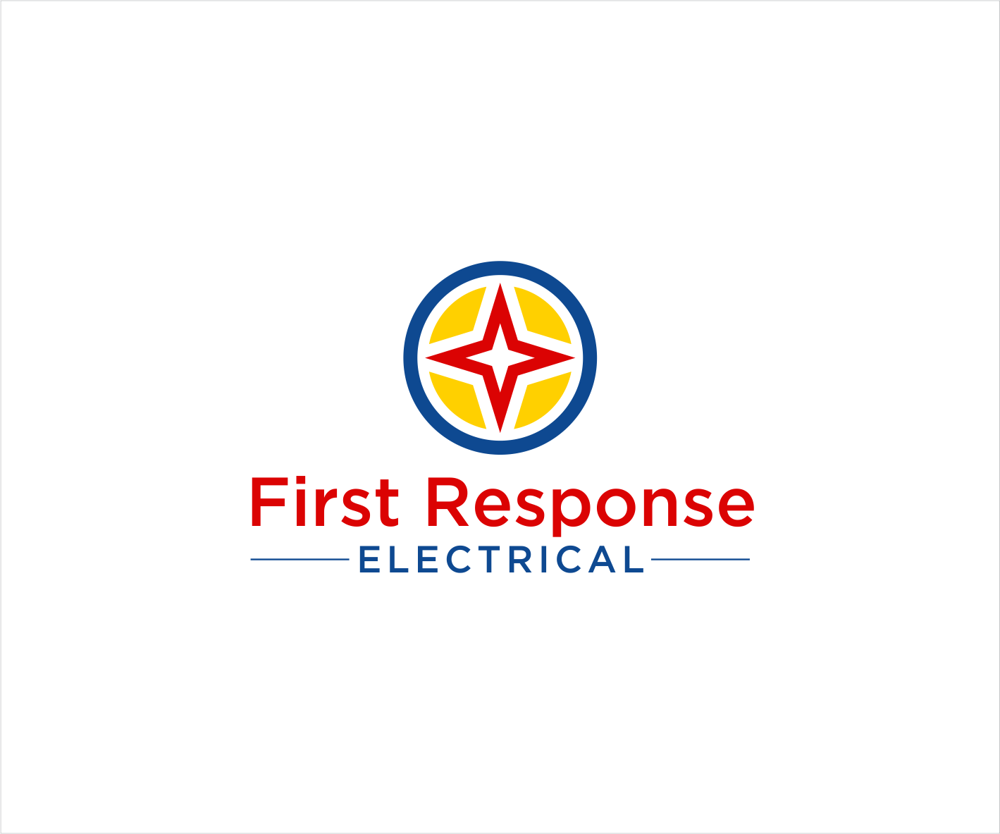 Bold Serious Electrician Logo Design For First Response Electric