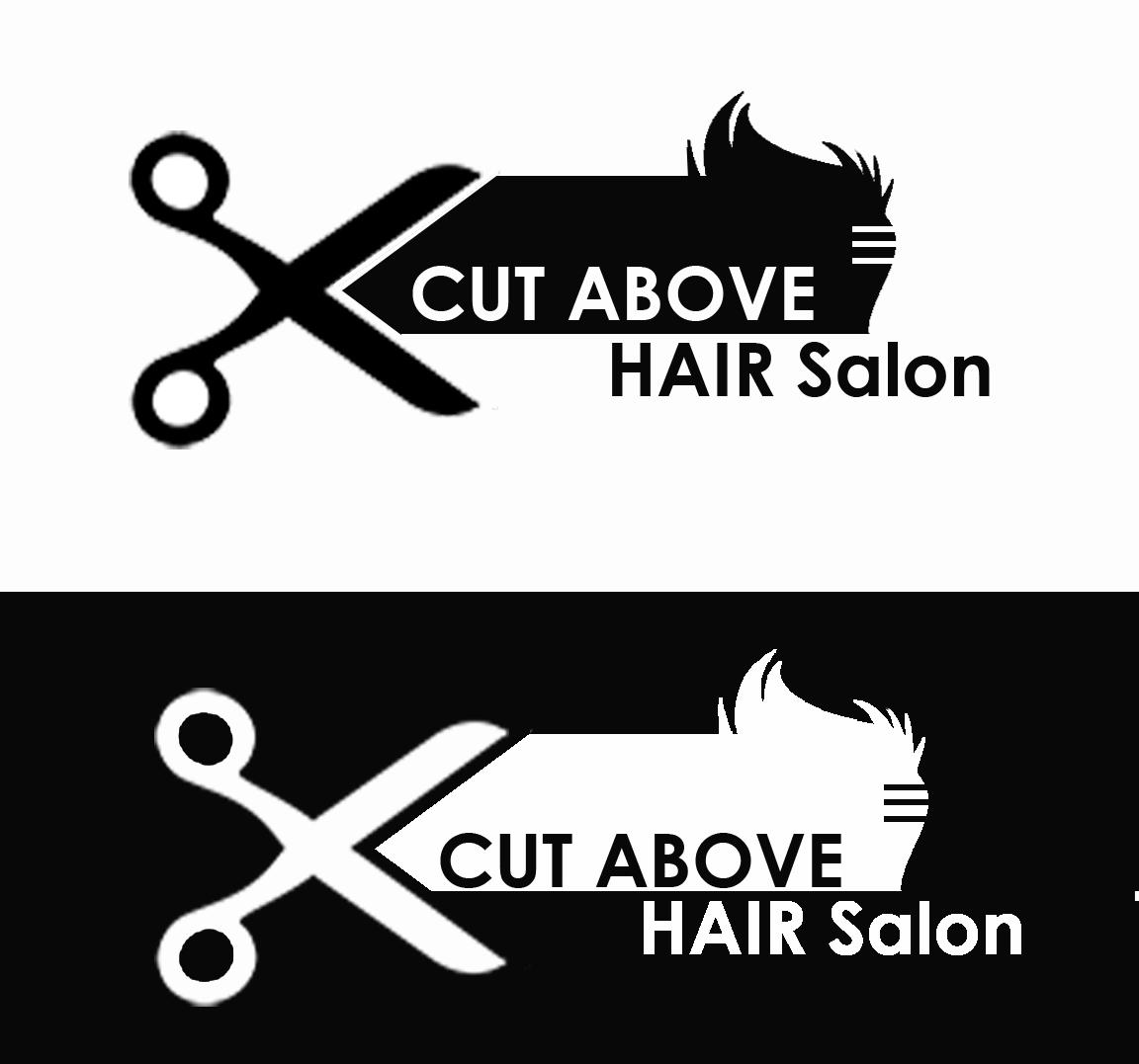 Modern Masculine Hair And Beauty Logo Design For Cut Above Salon By Mushroom Eggegg Design 15510225