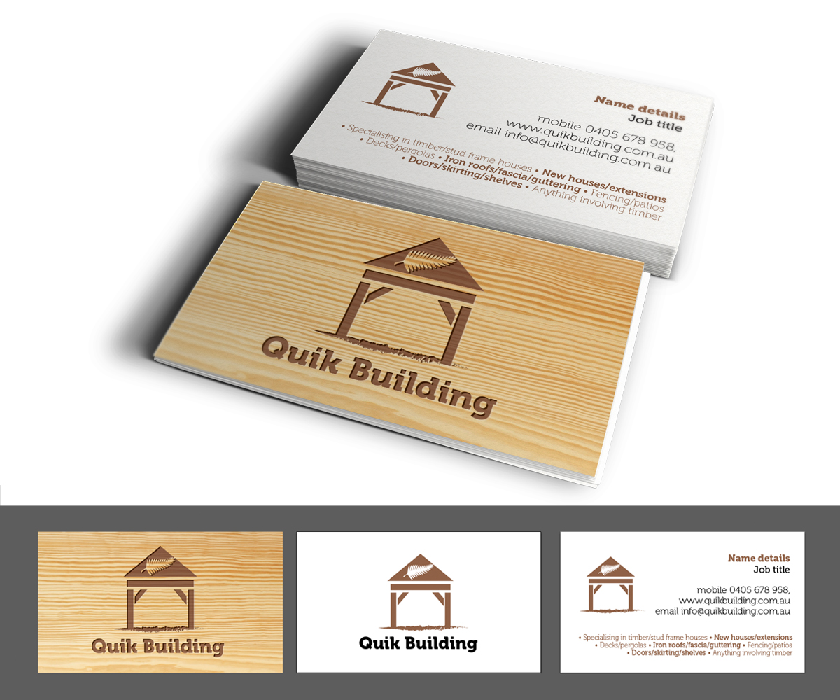 Business card design for viliami halalilo by see why for Home builder business cards
