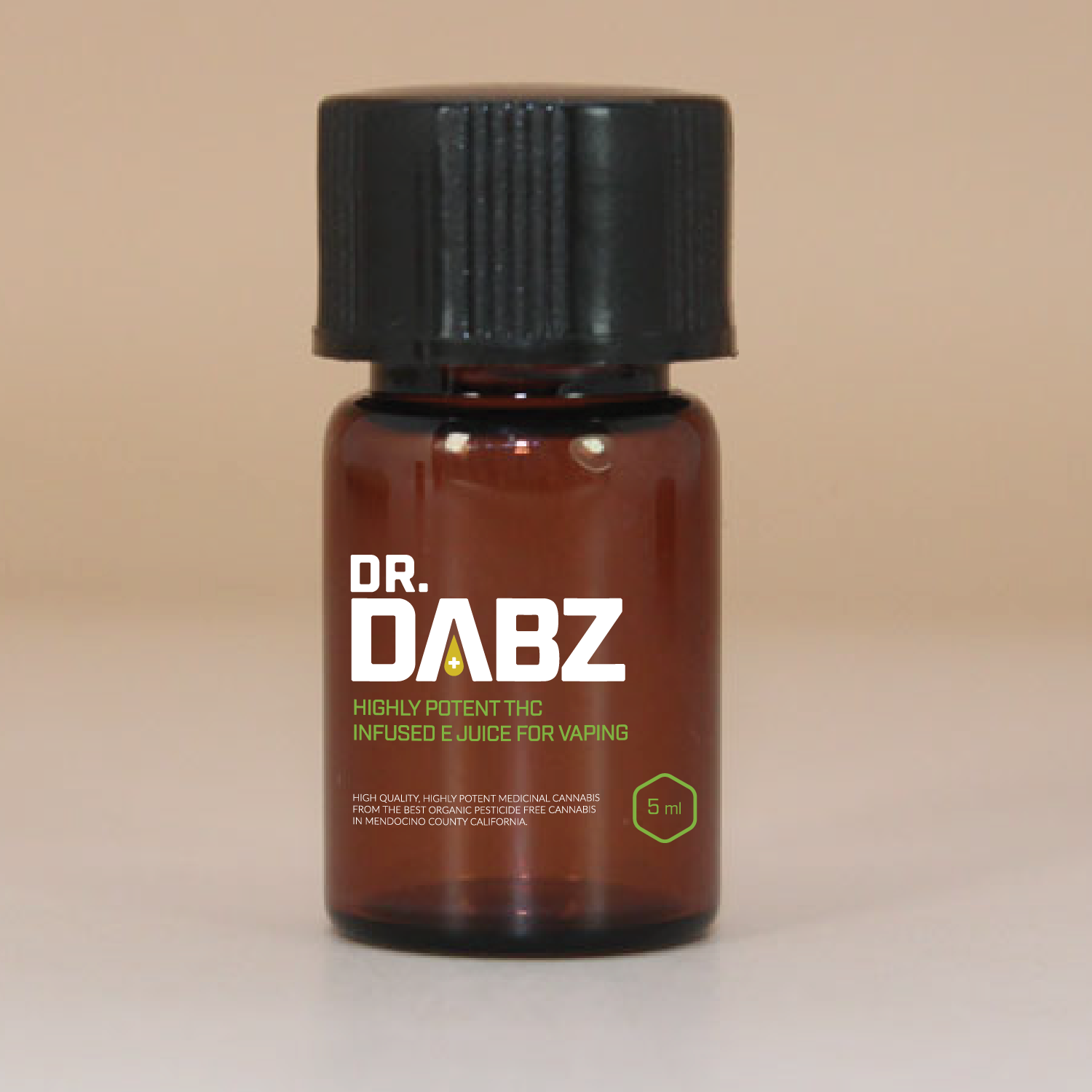 bold upmarket it company label design for dr dabz thc infused e