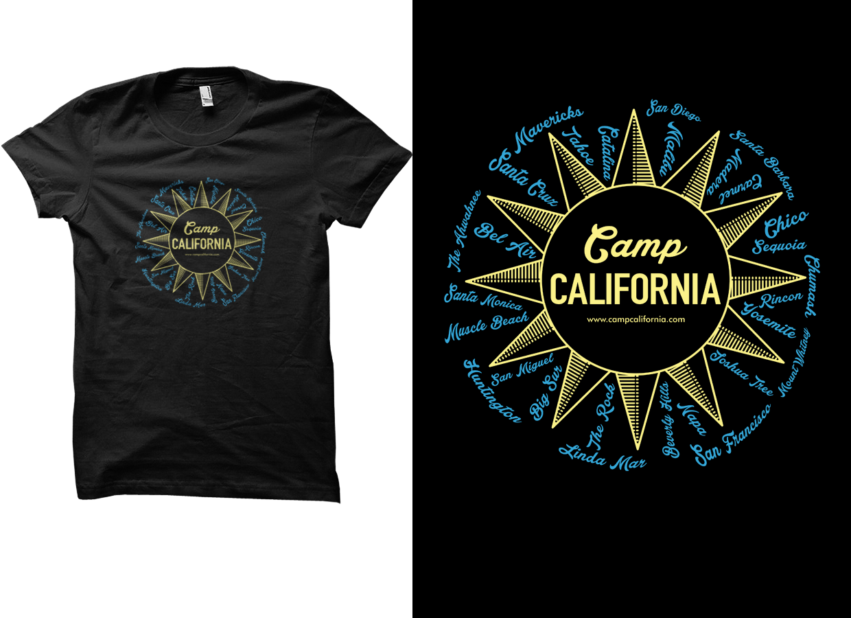 Traditional Personable T Shirt Design For Camp California Doo By