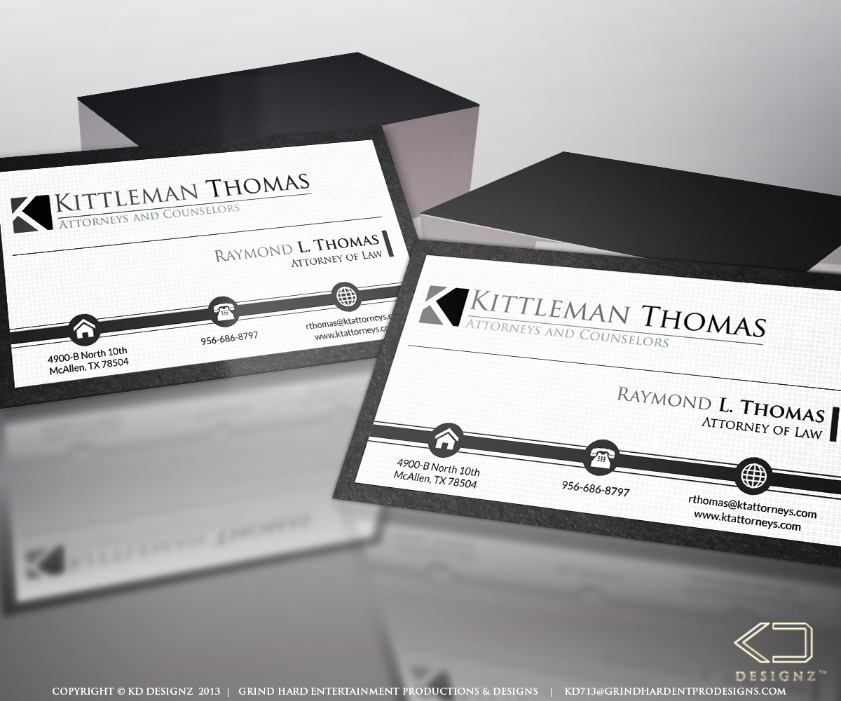 Upmarket, Serious Business Card Design for Raymond Thomas by KD ...