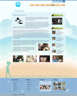 Web Design by Da Miracle - Website for 9 year old artist, helps animal res...