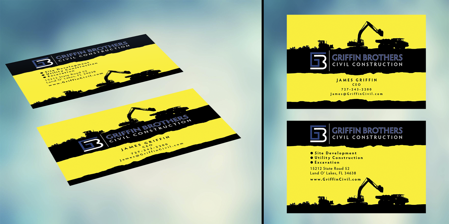 Bold, Serious, Business Business Card Design for a Company
