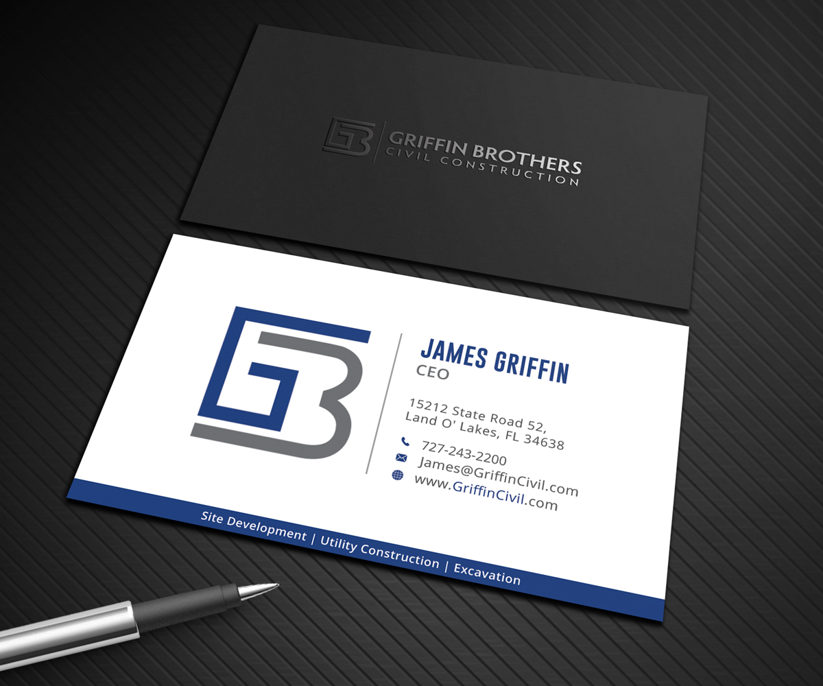 Bold serious business business card design for a company by bold serious business business card design for a company in united states design 14853849 reheart Images