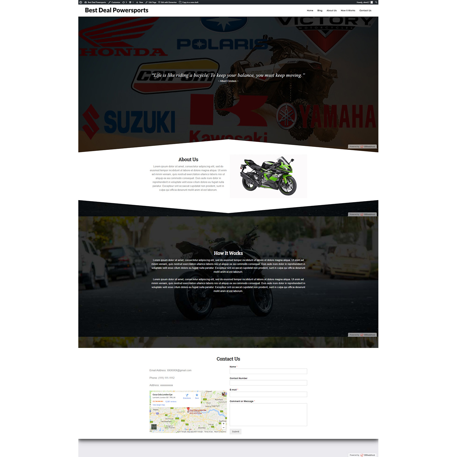 Modern, Colorful, Work Web Design for 844BikeTow by MMC Designs
