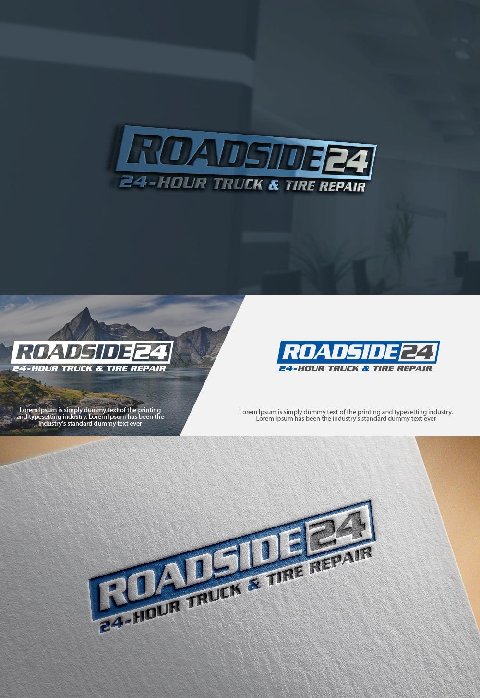 Modern, Bold, Truck Repair Logo Design for Roadside24 (1st line); 24 ...