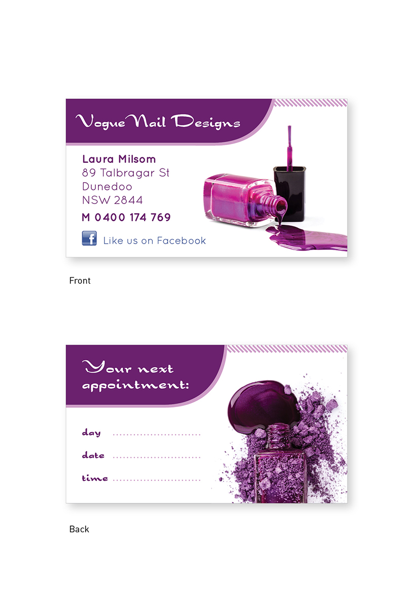 Business Card Design Design For Laura Milsom, A Company In