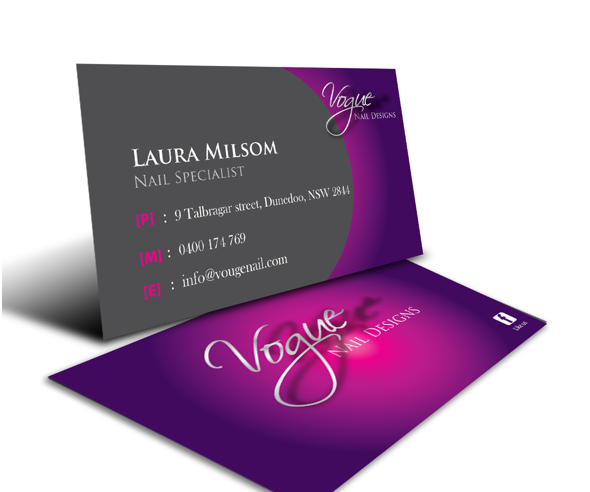 Bold modern business card design for laura milsom by gayan business card design by gayan for nail technician business card design design 2542591 magicingreecefo Image collections