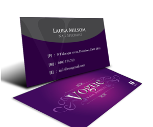 business card design by gayan for this project design 2542600 - Nail Tech Business Cards