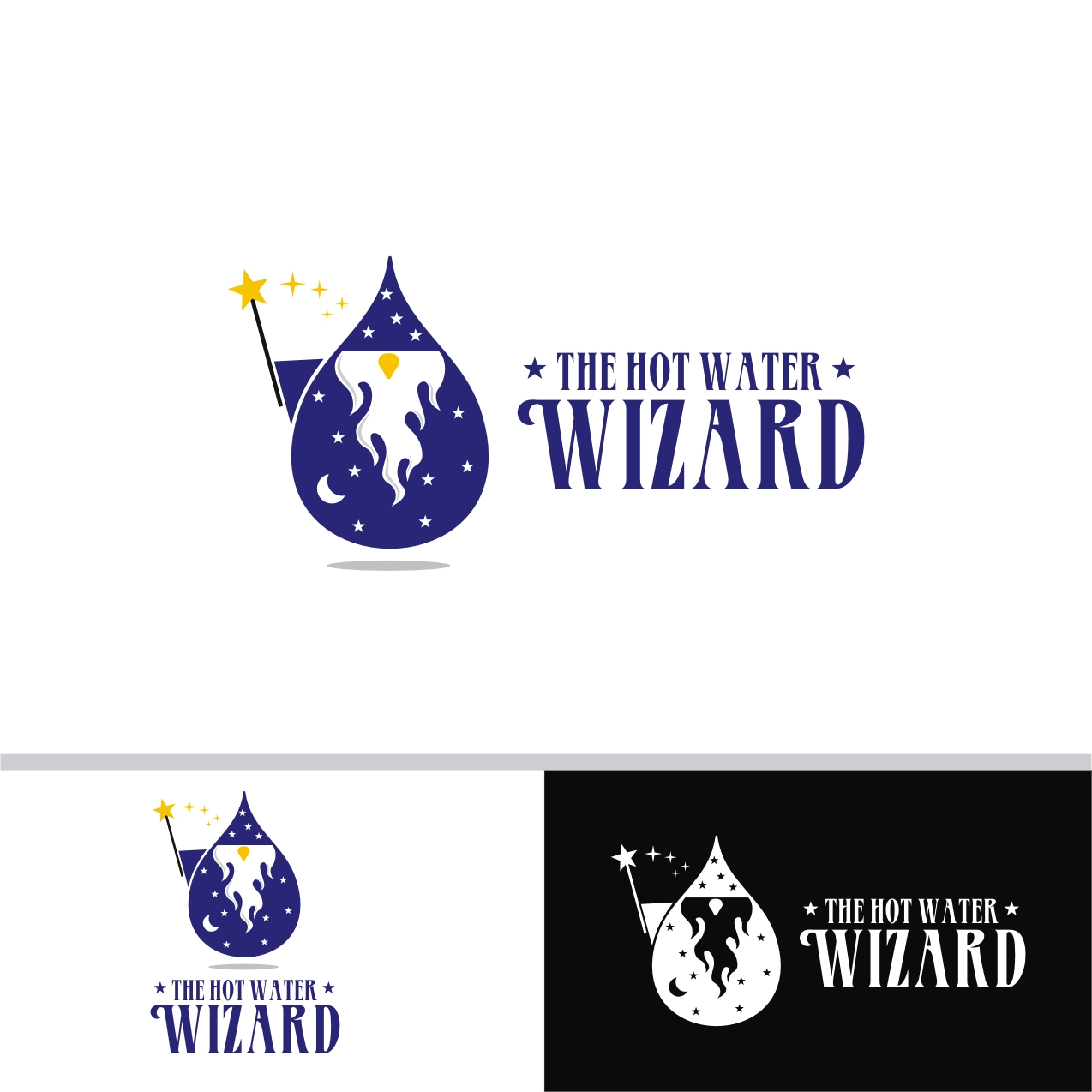 32 professional logo designs for the hot water wizard a for Logo creation wizard