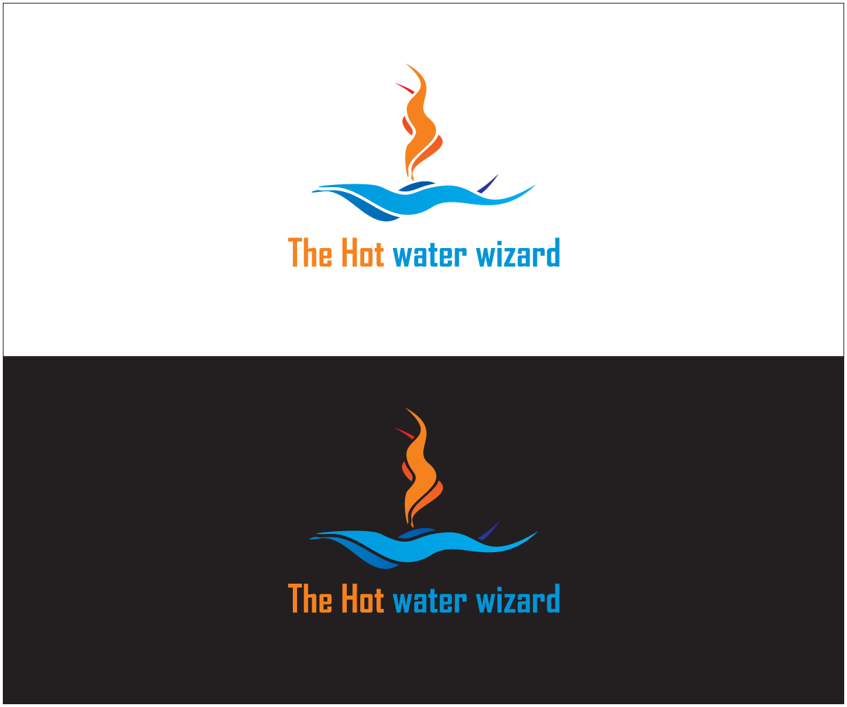 Business logo design for the hot water wizard by bijuak for Logo creation wizard