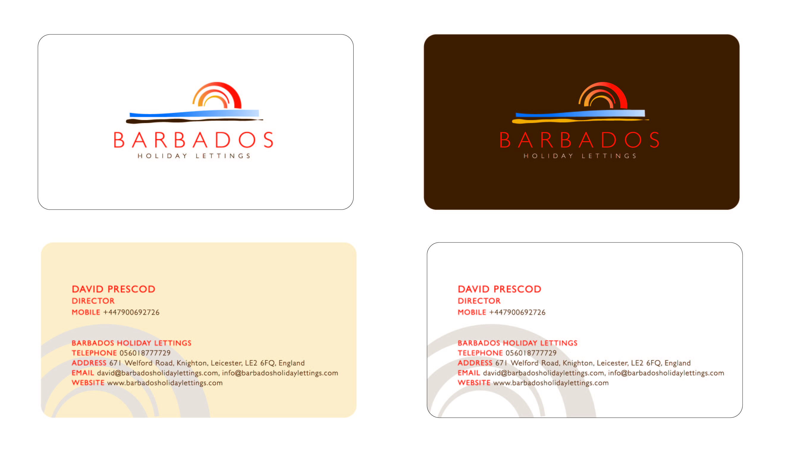 Business card design for barbados holiday lettings by rising sun business card design by rising sun for barbados holiday lettings stat design 1005 reheart Images