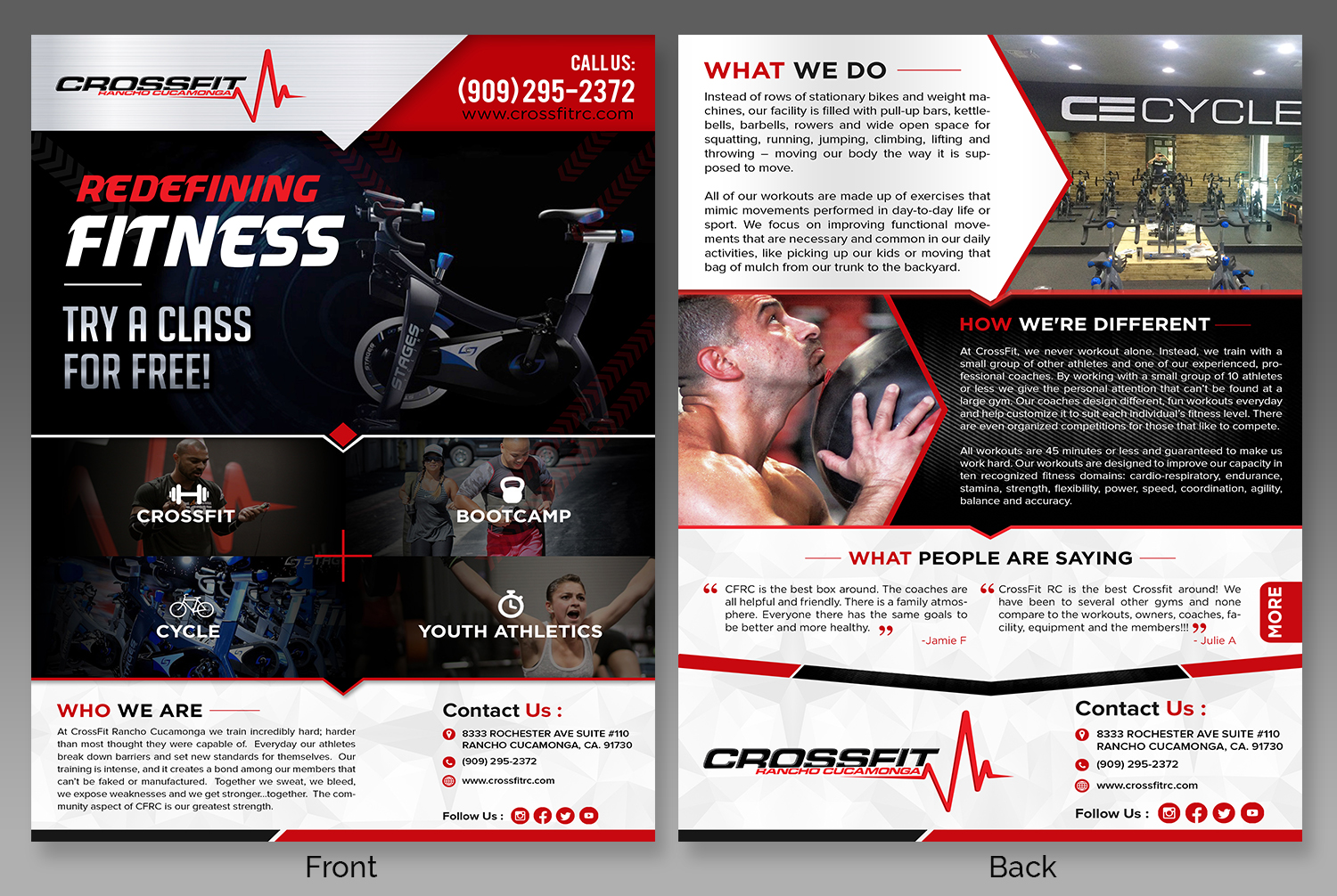 Flyer Design By Sd Webcreation For Crossfit Rancho Cucamonga 14916777