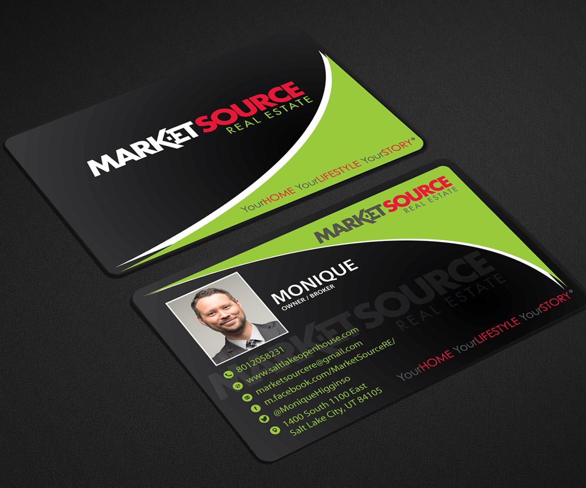Modern, Bold, Real Estate Agent Business Card Design for Market ...