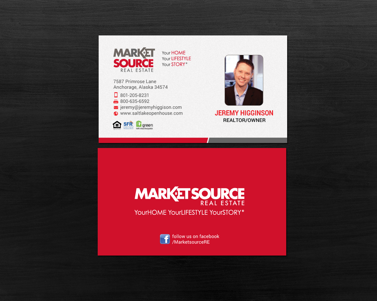 business card design by chandrayaancreative for market source media design 14799848 - Real Estate Agent Business Cards