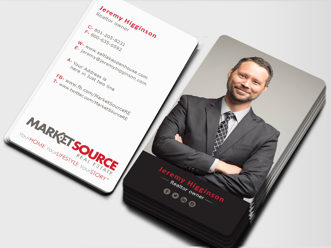 modern real estate business cards