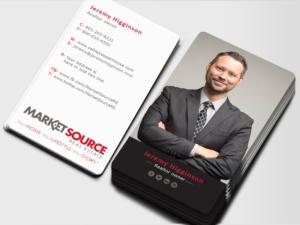 Modern bold business card design job business card brief for business card design job market source real estate business cards winning design by imagine reheart Choice Image