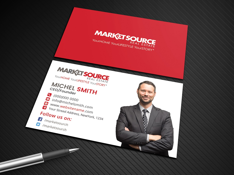 Modern bold real estate agent business card design for market business card design by avanger000 for market source media design 14849030 reheart Images