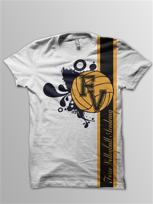 T Shirt Design (Design #576337) Submitted To Volleyball Club T Shirt Design