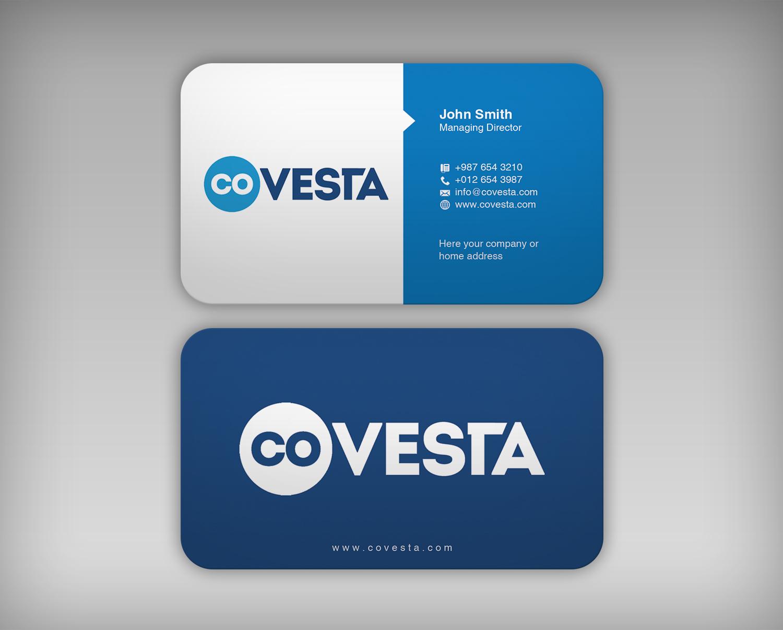 Elegant playful business card design for covesta by webixbd business card design by webixbd for business card design needed for start up company covesta colourmoves