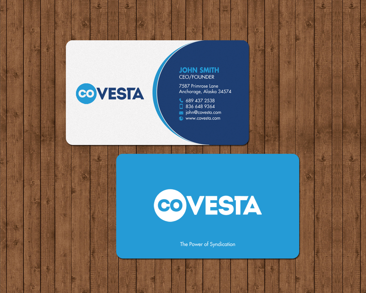 Elegant playful financial business card design for covesta by business card design by chandrayaaneative for covesta design 14809304 colourmoves