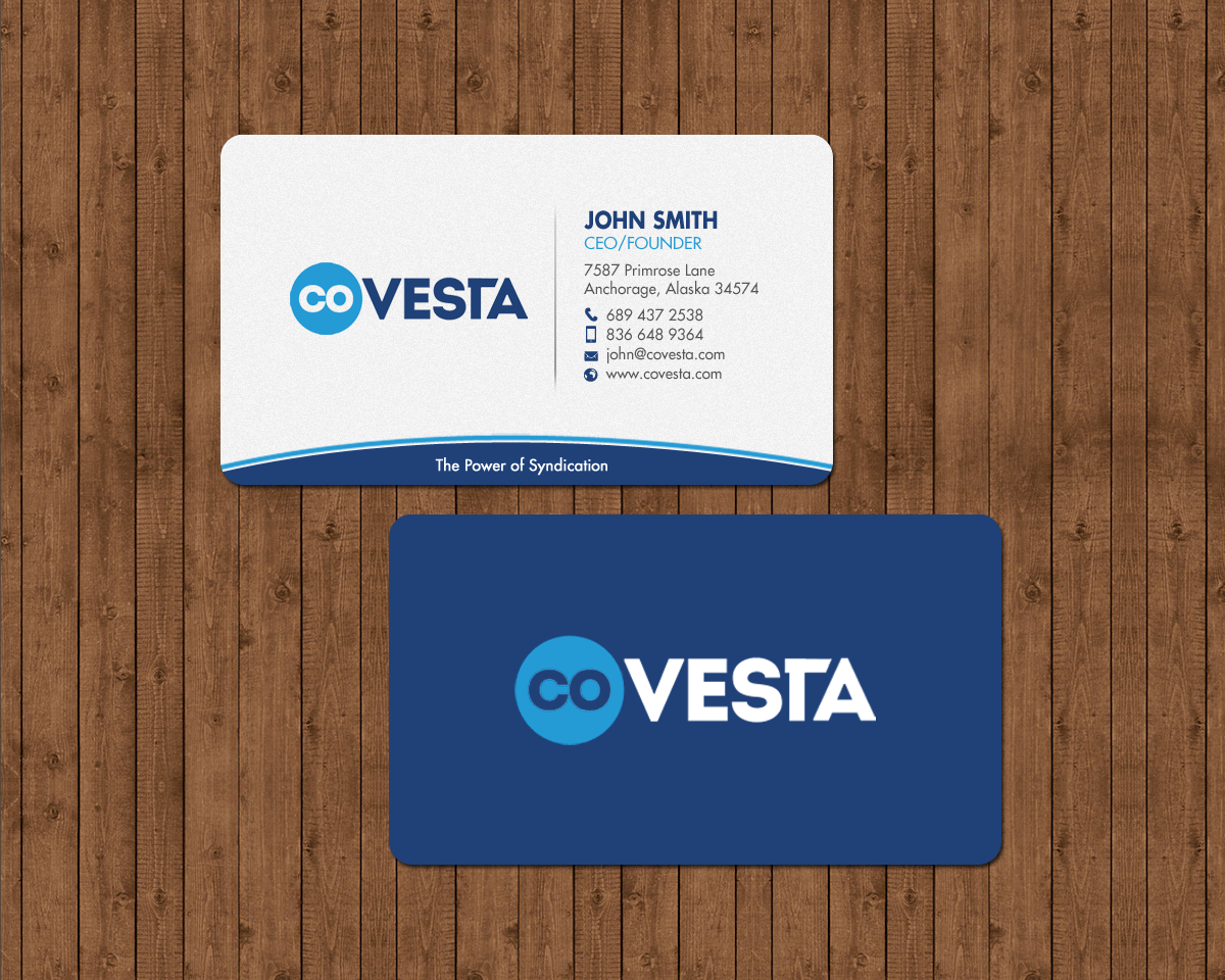 Elegant playful financial business card design for covesta by business card design by chandrayaaneative for covesta design 14809429 colourmoves