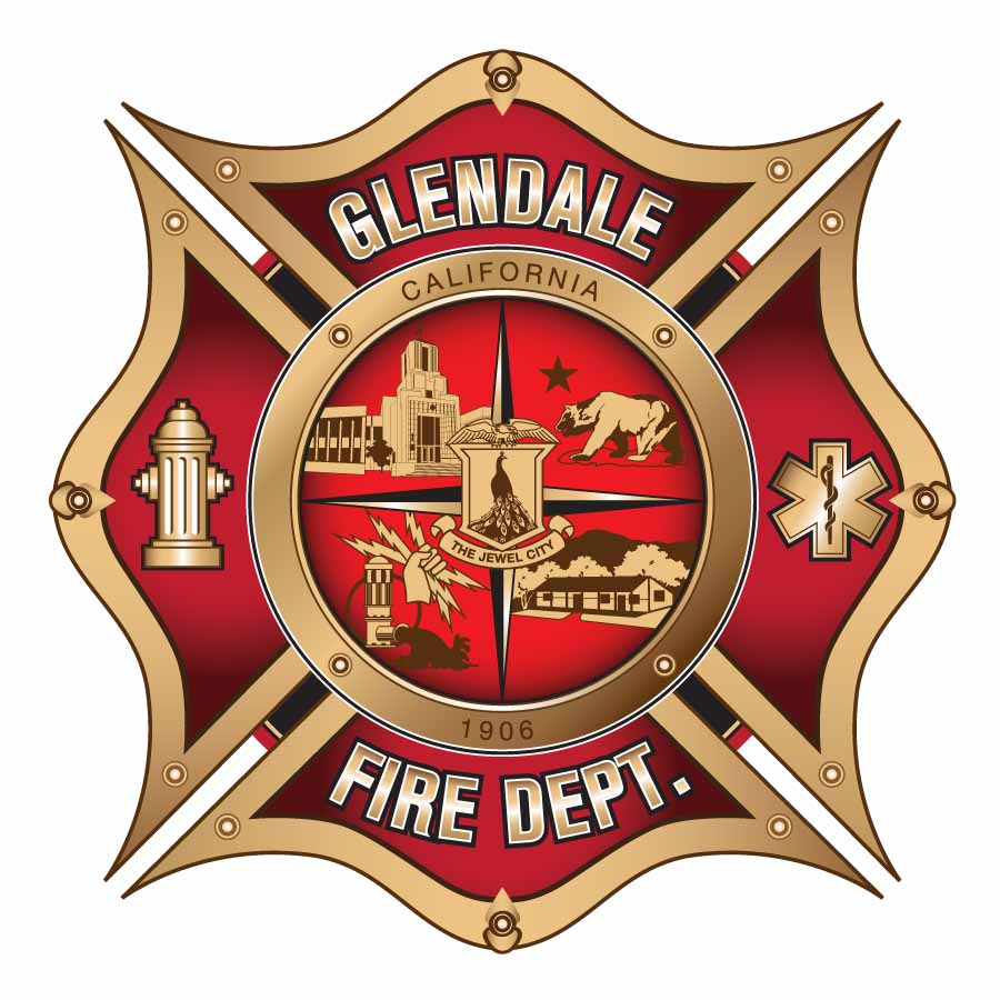 professional serious fire department logo design for