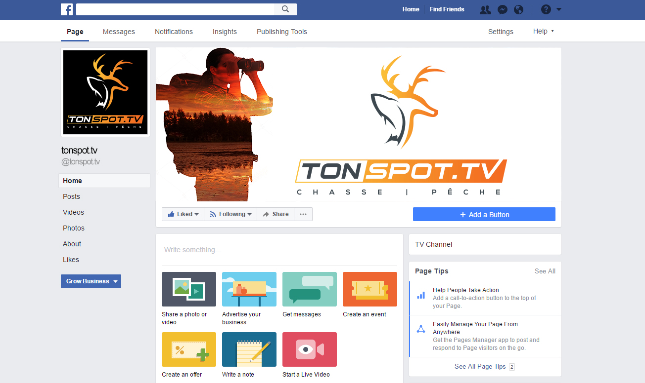 Masculine, Bold, Television Station Facebook Design for a Company by