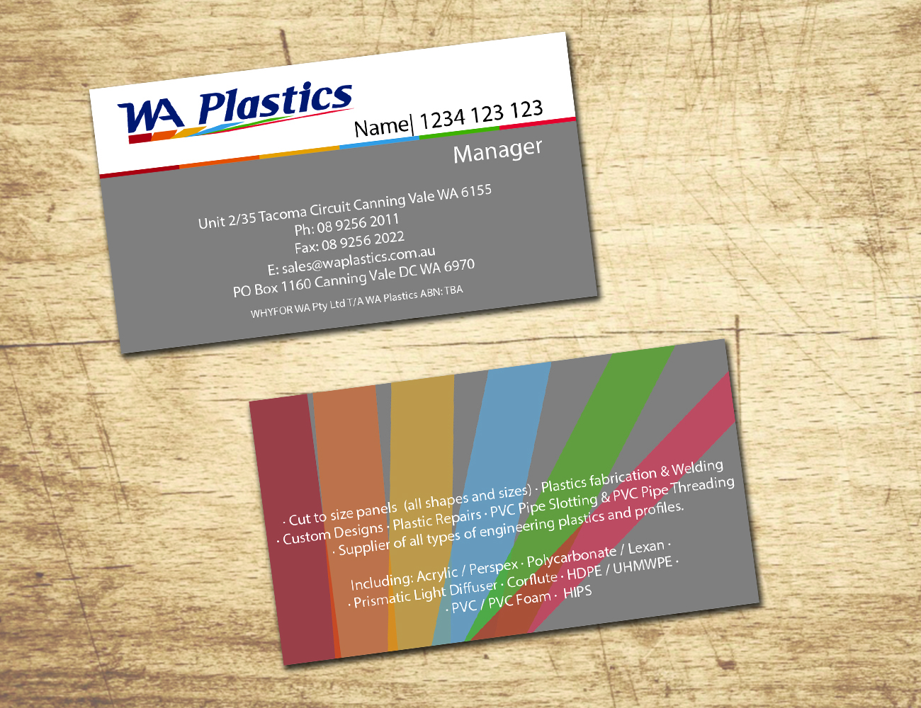 Business Card Design By Wave D3sign For 2559825