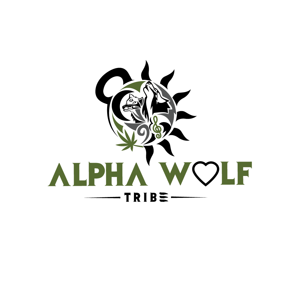 bold playful health and wellness logo design for alpha wolf tribe