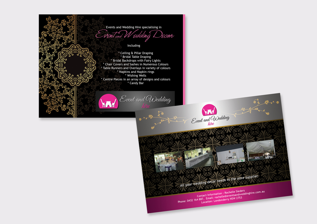 upmarket elegant wedding flyer design for event and wedding hire rh designcrowd com