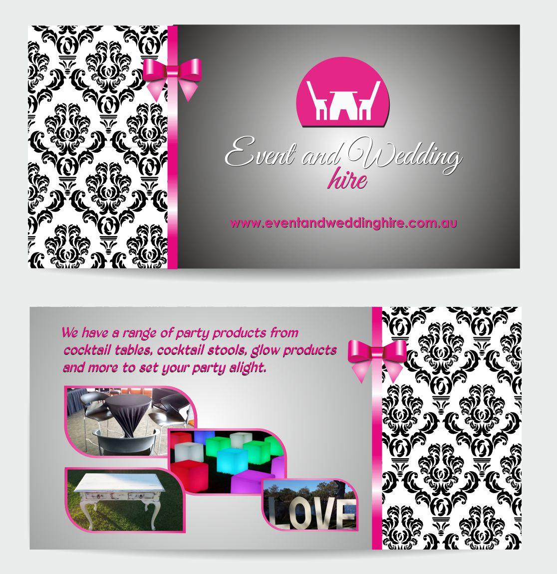 upmarket elegant wedding flyer design for event and wedding hire