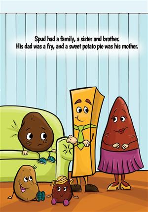 Art Design job – Illustrations for Childrens book – Winning design by ariana.