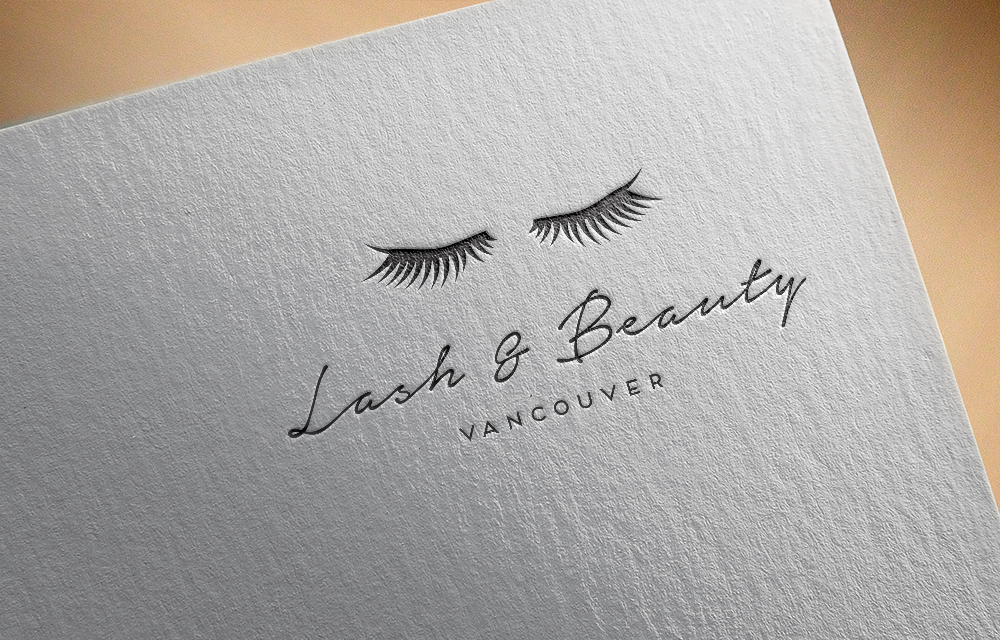 Elegant modern logo design for lash beauty vancouver by
