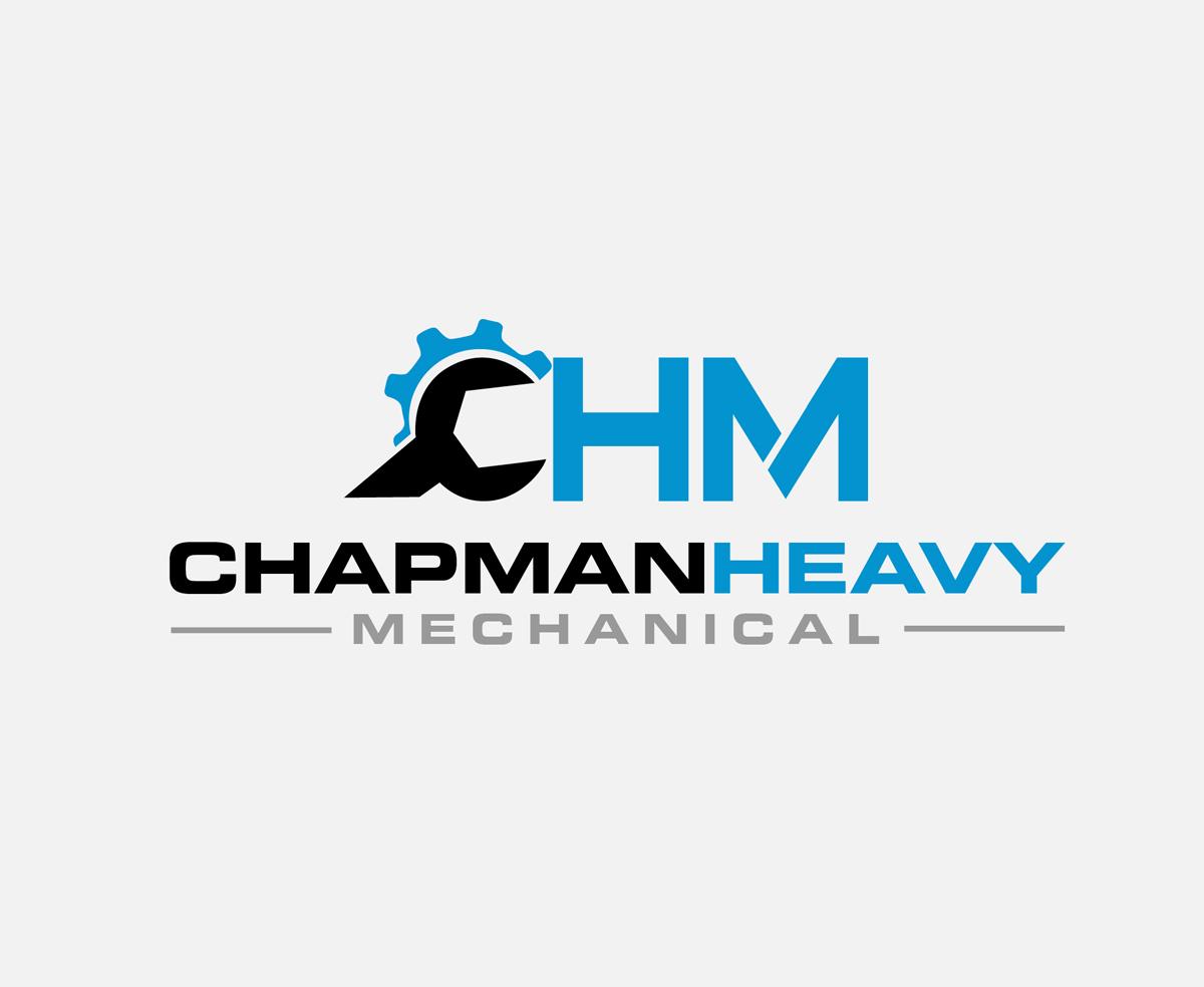 masculine modern mechanic logo design for chm chapman heavy rh designcrowd com mechanic logo design ideas graphic mechanic design studio