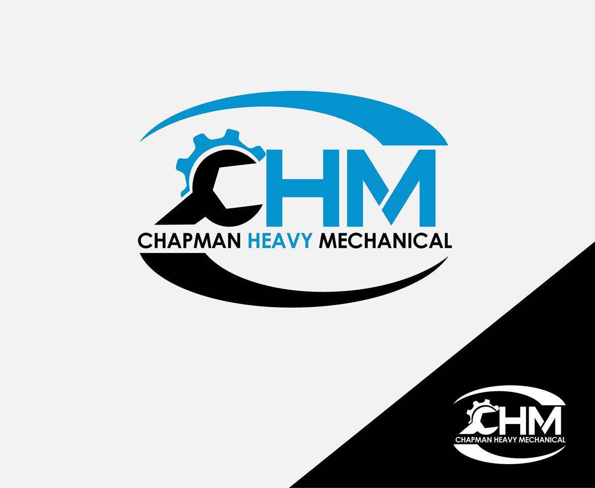 masculine modern mechanic logo design for chm chapman heavy rh designcrowd com Professional Mechanic Logo Professional Mechanic Logo