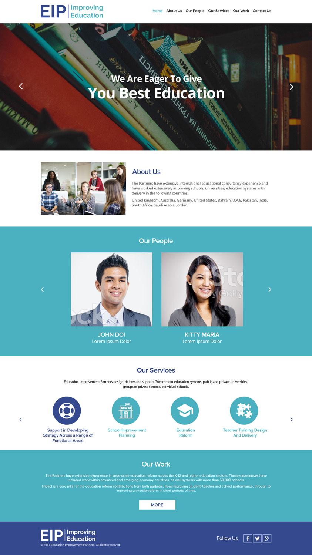 Upmarket Professional Education Web Design For Education Improvement Partners By Logooffers Design 14868342