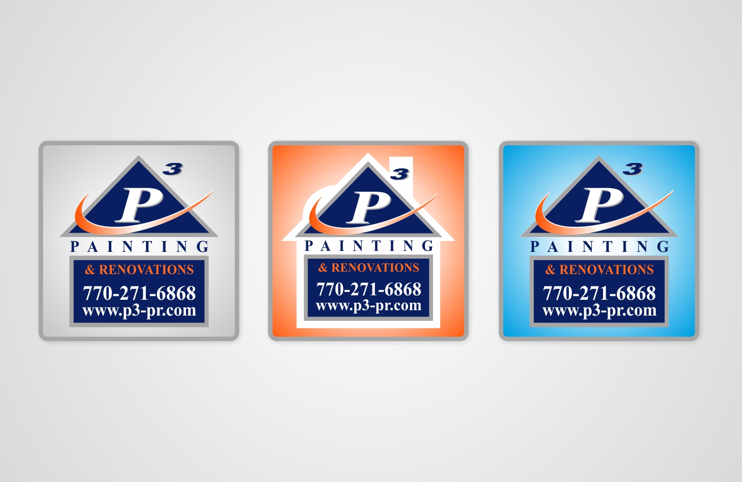Bold modern construction company sticker design for p3 painting renovations in united states design 14907062