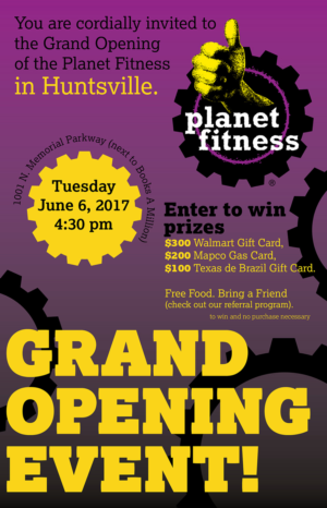 Grand Opening for a Fitness Center | 55 Flyer Designs for a