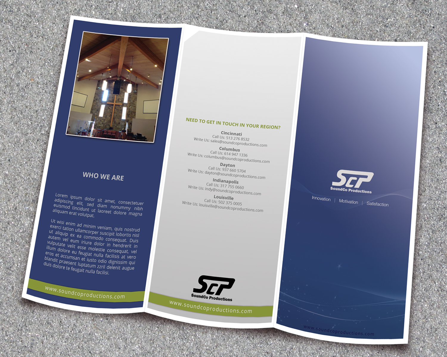 Bold modern church brochure design for a company by ataur design bold modern church brochure design for a company in united states design 2641593 altavistaventures Gallery