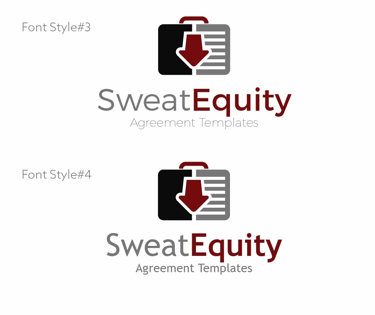 Equity Logo Design For Sweat Equity Main Name And Agreement