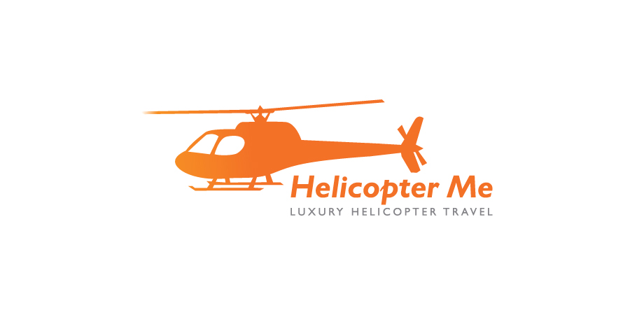 upmarket elegant tourism logo design for luxury helicopter travel